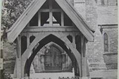 Another view of the lych-gate, which has been moved twice to accommodate road widening.