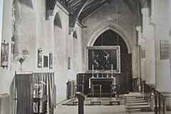 The Lady Chapel, prior to the relocation of the organ behind this altar.