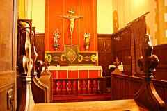 The beautiful chapel of SS Michael and George, used for Friday Mass and Compline.